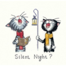 Silent Night? Cross Stitch Kit on AIDA by Heritage Crafts COMPLETE KIT FREE P&P