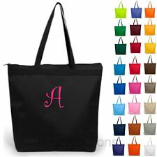 11 Personalized Tote Bag Monogram Bride Bridesmaid Gift Beach Wedding~26 Colors!