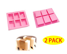 2 Set Rectangle Silicone Soap Making Molds Baking Diy Mold For Cake Bakeware New