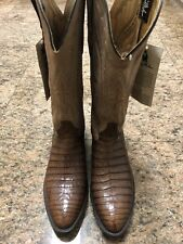 Collectible Larry Mahan Genuine Crocodile Western Boots NWT