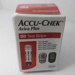 Accu-Chek Aviva Plus 50 Count Exp:07/2021 Diabetic Glucose Testing Strips Sealed