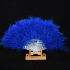 Feather Fan Folding Hand Costume Wedding Showgirl Dance Fancy Party Multi