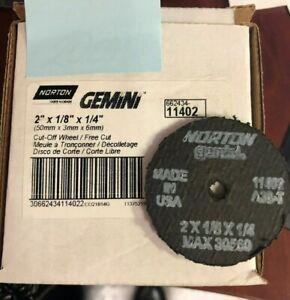NORTON 662434-11402 2 X 1/8 X 1/4 GEMINI CUT OFF WHEELS BOX OF 20