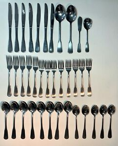 37 Pieces ONEIDA Minute Man Colonial Boston Stainless Flatware Mixed