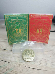 Chao Playing Cards - Set of Red and Green Cards including Dealer Coin!