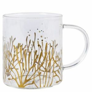 Gift Mug Glass -  Sea Design Glass Clear Mug - Paperchase - (9756)