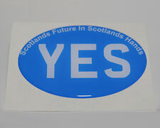 Scotland Yes Vote Resin Dome Car Badge Oval Sticker