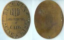 Plaque de métier - BEAUMONT (S et O) garde particulier Mr LAIR marque AU DEPART