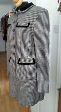 AUTHENTIC  DKNY DONNA KARAN CHECK BLACK & WHITE MINI SKIRT JACKET SUIT
