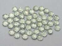 "1000 Clear Acrylic Round Flatback Dotted Rhinestone Gems 4mm(0.16"") Nail Art"