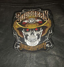 MERIDIONALE HEAD OF THE MORTI TOPPA BACKPATCH Gilet da biker chopper MC teschio