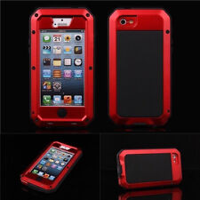 New Style Waterproof Aluminum Gorilla Glass Case For iPhone 6S Plus 4 4S 5 5S 5C