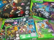 5 Mega Bloks Teenage Mutant Ninja Turtles Sets Kraang Rampage Turtle Racer Cryo