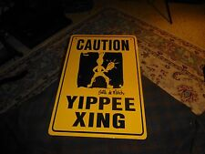 BALLE DE MATCH TENNIS CLOTHING / CAUTION YIPPEE XING Metal Sign Wall Hanging VG!