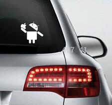 Android Eating Apple White Maruti Ertiga Ritz Wagon R Celerio Car Funny Sticker