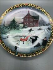 P. Buckley Moss Christmas Valley Art Plate Fourth Magic Collection Anna Perenna