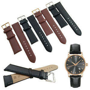 Genuine Leather Watch Strap Band 8 to 24mm Black Brown Replacement Straps 1PC