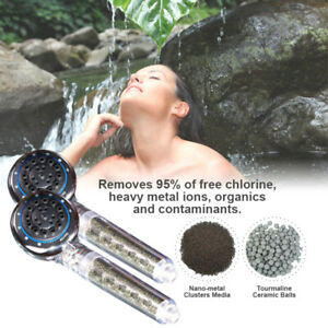 Two Multifunction Healthy shower Heads Purifier Helps remove bacteria & More