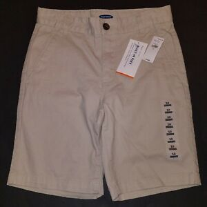 NWT Old Navy Khaki Tan Youth Shorts Built-In Flex Sizes 10 12 14 16 18 Boy Girl