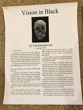 Vision In Black by Ted Karmilovich