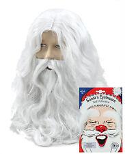 Santa Claus Father Christmas Wig, Beard, Moustache, White Eyebrows Fancy Dress