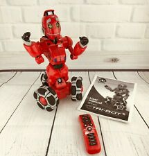 WowWee Tribot Red Robot WORKS Interactive Talking Companion w/ Remote See Video