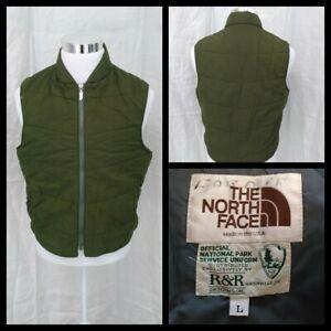 The North Face Brown Label Vintage National Park Vest Men's Lg Green Inv#Z2560