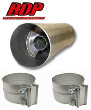 "FTE Resonator / muffler 4x30"" for 4"" exhaust piping RM4430A - W/Clamps"