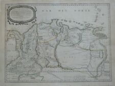 Original 1656 Sanson Map PANAMA COLOMBIA VENEZUELA GUYANA El Dorado City of Gold