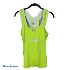 NWT Louis Garneau Fast Skin Top Mesh Cycling Athletic Top Neon Lime Size L