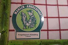 Alter Aufkleber Freizeit Angeln Angelsport Kössling Lübeck MARLIN