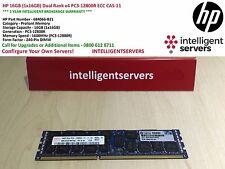 HP 16GB (1x16GB) Dual Rank x4 PC3-12800R ECC CAS-11 * 684066-B21 *