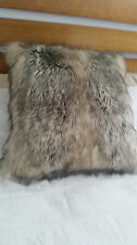 CHARCOAL FAUX FUR CUSHIONS COVERS ( A SET OF TWO) -SUPER QUALITY. SALE!!!