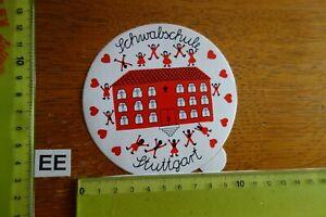 Alter Aufkleber Schule SCHWABSCHULE Stadt STUTTGART