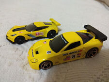 HOT WHEELS CORVETTE C6.R AND CORVETTE C7.R LE MANS 1/64