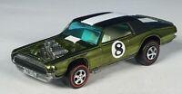 Restored Hot Wheels Redline - 1970 - Spoiler - TNT Bird - Olive
