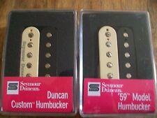 SEYMOUR DUNCAN SH-5 DUNCAN CUSTOM AND SH-1N 59 MODEL HUMBUCKER PICKUP SET ZEBRA