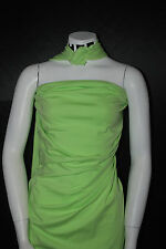 Cotton Jersey Lycra Knit Fabric 4 ways Stretch Luxurious Pastel Green  10 oz