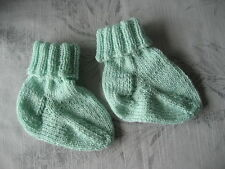 Handknitted Wool Socks 6-9mths