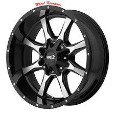 20x10 BLACK rims MOTO METAL 970 LIFTED CHEVY GMC 2500 3500 1990-2010 8x6.5 -24mm