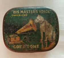 Vintage Soft Tone Needles Tin Gramophone His Masters Voice Victrola Phonograph >