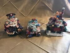 Lot 3 Crinkle Claus Moscow Russia, Cousin With Dolls, Mail Car