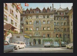 Switzerland Hotel Balances Lucerne Facade Historique shows the front postcard