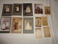 Lot of 12 Antique Cabinet Card Photos of Men-Women-Children Early 1900's