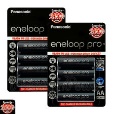 8 x Panasonic Eneloop PRO AA batteries 2500mAh Rechargeable High capacity Ni-MH