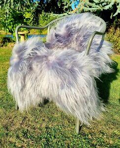 XXXL Light Grey Icelandic Sheepskin Rug - 125cm by 90cm A++ (4219)