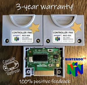 Nintendo N64 Controller Pak / Memory Card FRAM-upgraded permanent reliable saves