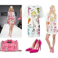SS15 Moschino Couture Jeremy Scott Barbie Paper Doll Cotton Jersey Tshirt Dress