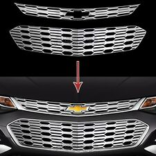 fits Chevrolet Cruze 2016-18 CHROME Snap On Grille Overlays Grill Covers Inserts