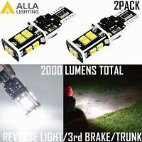 Alla Lighting 6000K 14-LED Back Up Reverse Light,High Brake,Luggage Trunk White